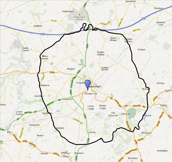Rowden Surgery Catchment Area
